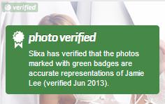 Verified photo badge screenshot