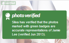 Verified photo badge screenshot