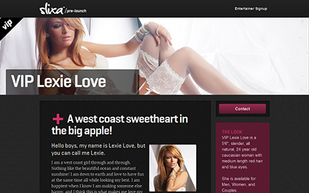 Profile page screenshot